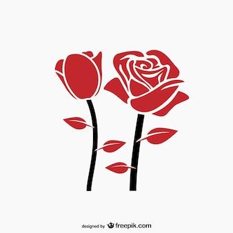 Czerwona róża wektor