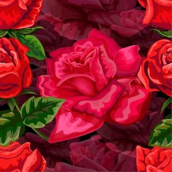 Czerwona róża wzór