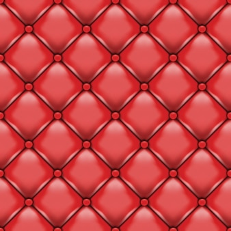 Czerwona skórzana tapicerka.