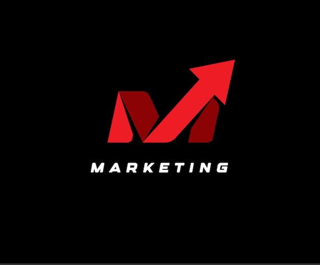 Czerwona strzałka w górę na czarnym tle wektor ilustracja ikona seo marketing streszczenie symbol dostawy