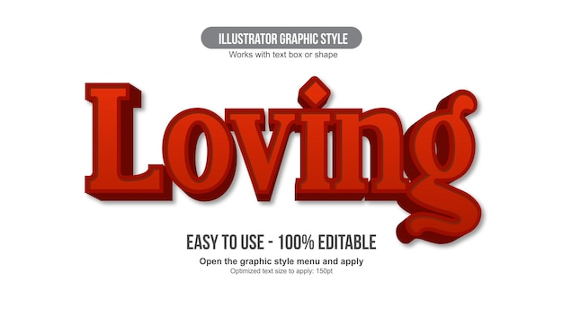 Czerwona typografia wyświetlacza 3d