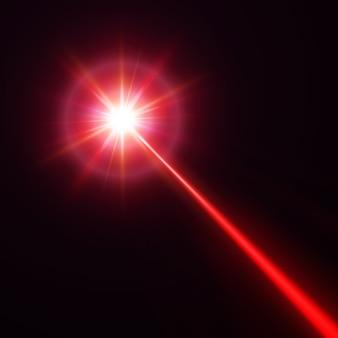 Czerwona wiązka lasera, ilustracja