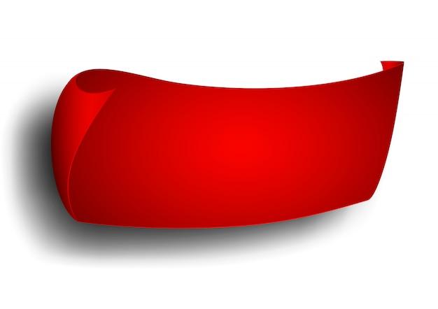 Czerwona wstążka, baner, reklama.