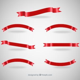 Czerwona wstążka banery