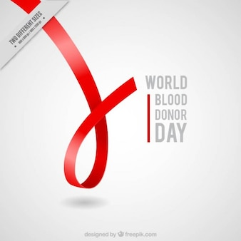 Czerwona wstążka dawcy krwi dzień tła