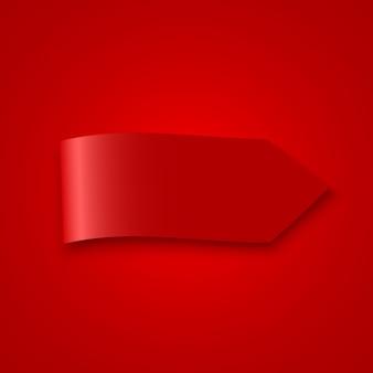 Czerwona wstążka. .