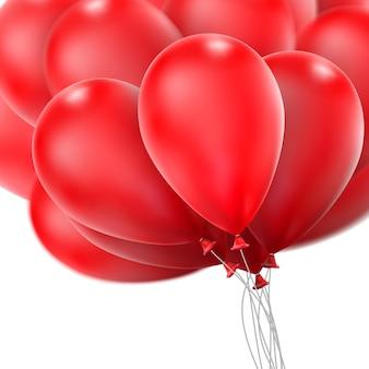 Czerwone błyszczące balony.