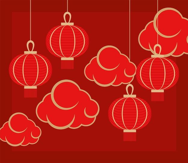 Czerwone chińskie dekoracje