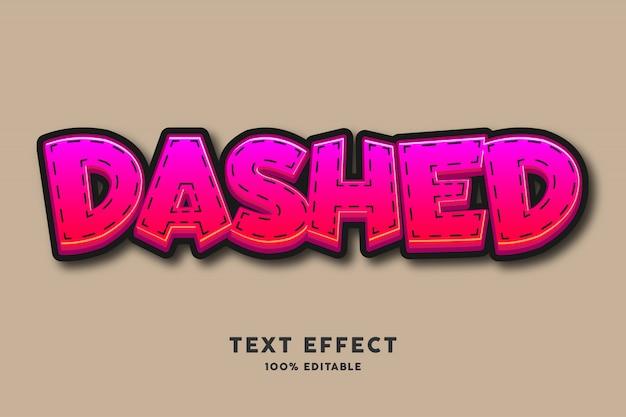 Czerwone cukierki z efektem tekstowym linii przerywanych