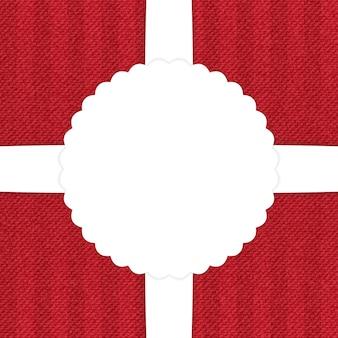 Czerwone dżinsy kartkę z życzeniami. ilustracja wektorowa