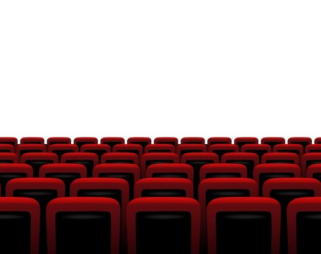 Czerwone fotele poziome na białym tle