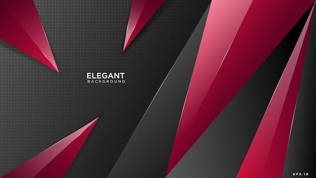 Czerwone geometryczne eleganckie tło 3d