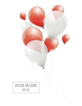 Czerwone i białe balony
