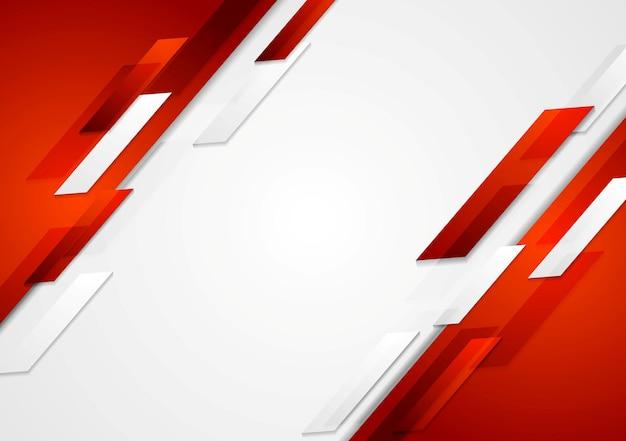 Czerwone i białe błyszczące tło hi-tech ruchu. projekt wektorowy