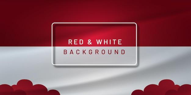 Czerwone i białe tło indonezji