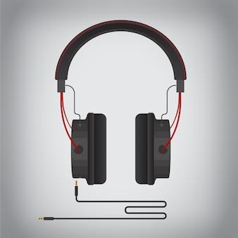 Czerwone i czarne słuchawki do gier