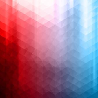 Czerwone i niebieskie tło wielokątny