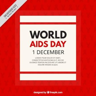 Czerwone i proste tło dnia world aids