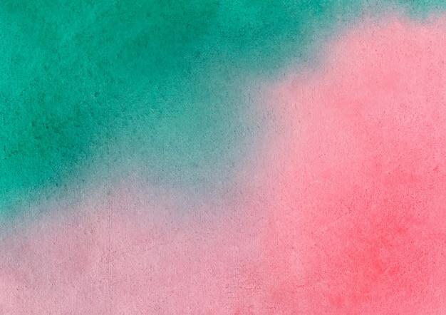Czerwone i zielone tło akwarela i streszczenie tekstura tło
