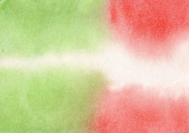Czerwone i zielone tło akwarela