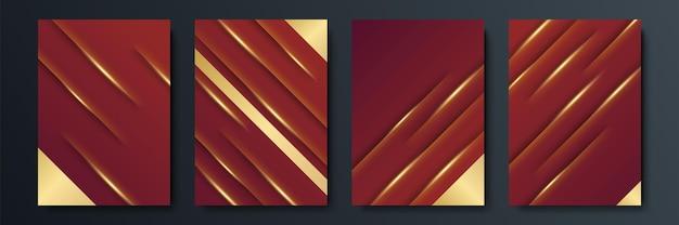 Czerwone i złote tło. projekt ilustracji wektorowych dla szablonu mediów społecznościowych, karty z pozdrowieniami, luksusowe zaproszenie, festiwal, prezentacja biznesowa, baner, okładka, tożsamość korporacyjna