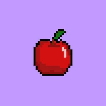 Czerwone jabłko w stylu pixel art