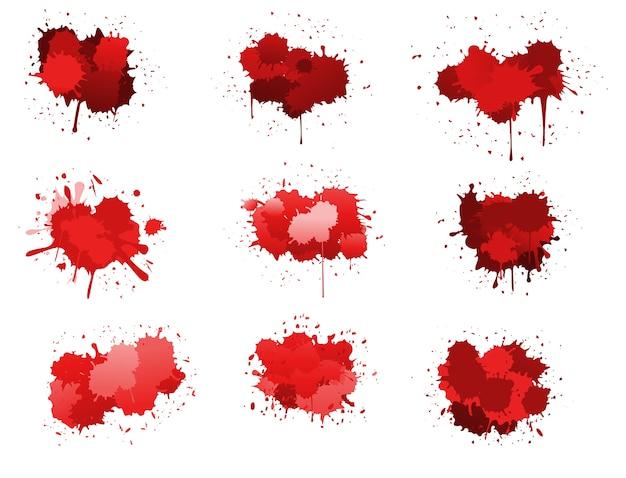 Czerwone kropelki atramentu