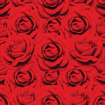 Czerwone kwiaty abstrakcyjny wzór