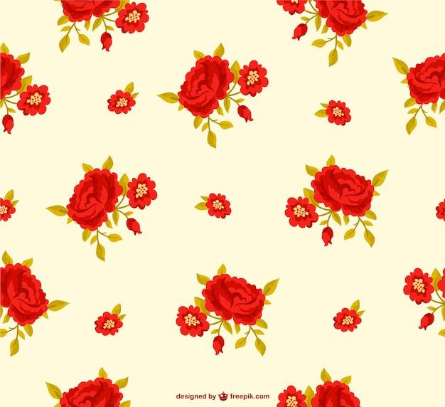 Czerwone kwiaty wzór tła