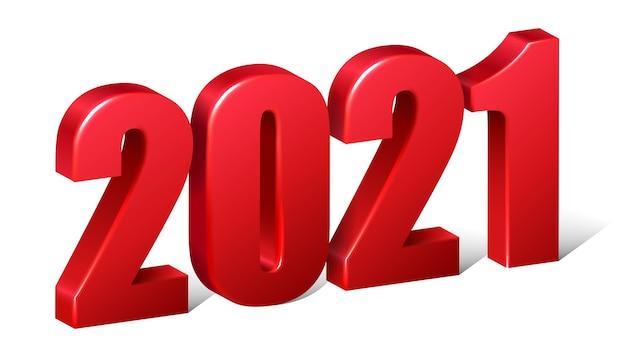 Czerwone liczby nowego roku.