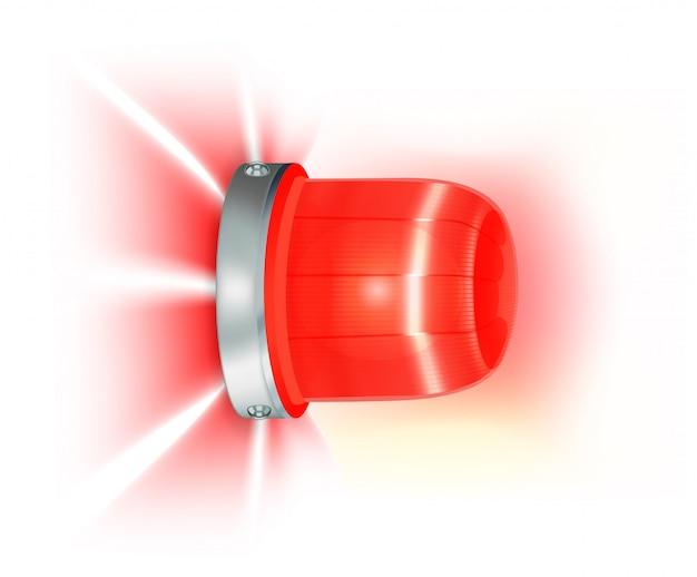 Czerwone migające światło