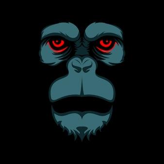 Czerwone oczy goryl