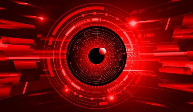 Czerwone oko obwód cyber przyszłości koncepcja technologii