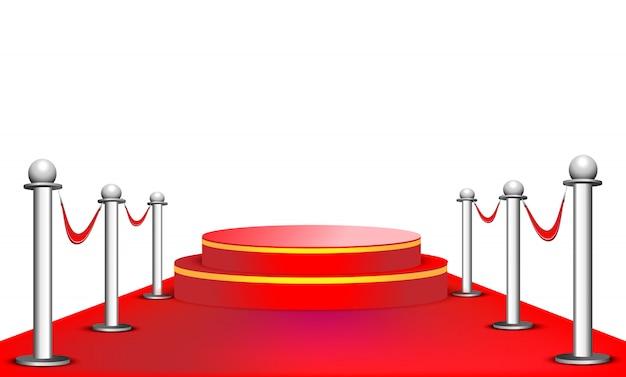 Czerwone podium