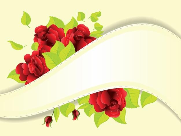 Czerwone róże i wstążki
