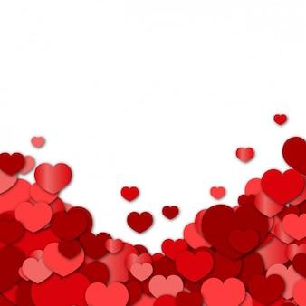 Czerwone serca w tle