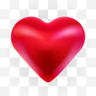 Czerwone serce, na białym tle