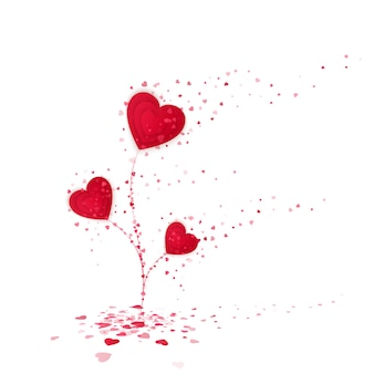 Czerwone serce symbol miłości