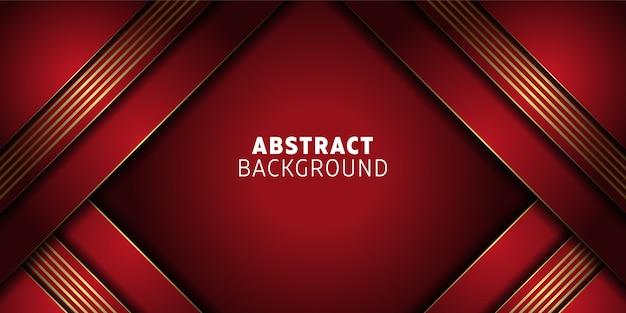 Czerwone tło abstrakcyjne z geometrycznymi kształtami
