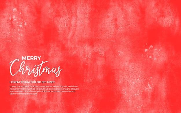 Czerwone tło akwarela na boże narodzenie