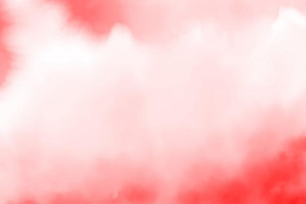 Czerwone tło powitalny akwarela