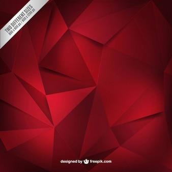 Czerwone tło wielokątów