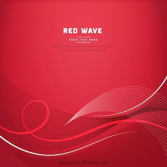 Czerwone tło z falistym stylu