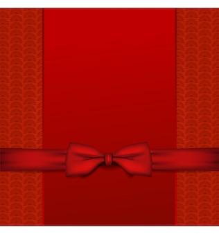 Czerwone tło z wstążką