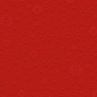 Czerwone tło z wytłoczonymi śniegu