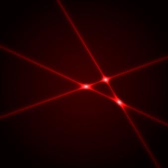 Czerwone wiązki laserowe.