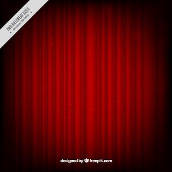 Czerwone zasłony w tle