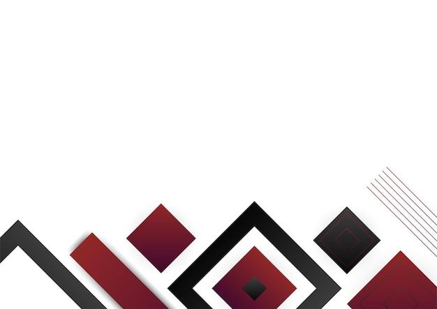 Czerwone złoto abstrakcyjne kształty geometryczne na białym tle. nadaje się do tła prezentacji, banera, strony docelowej w sieci, interfejsu użytkownika, aplikacji mobilnej, projektu redakcyjnego, ulotki, banera i innych powiązanych okazji