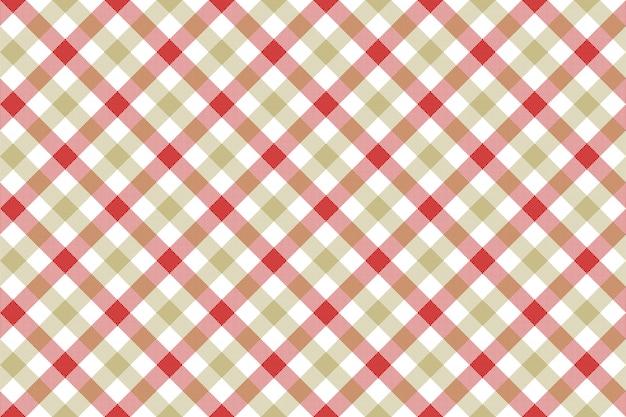 Czerwonego beżowego czek tkaniny tekstury diagonalnego tła bezszwowy wzór