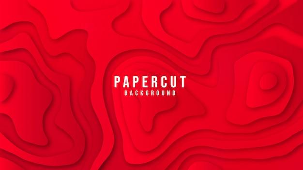 Czerwonego kolorowego abstrakcjonistycznego eleganckiego papieru tła rżnięty projekt